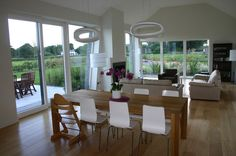 Andrew O'Brien | Architects Modern Bungalow Exterior, Modern Bungalow House, Kitchen Living, Living Rooms, House Designs Ireland, Bootroom, Bungalow Ideas, Modern Farmhouse Design, Extension Ideas