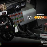 Back to the Future DeLorean Sixth-Scale Collectible Vehicle Dashboard