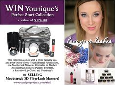 YouNique Perfect Start Makeup Collection #Giveaway!  I'm so excited to start using their products!  Check out this $125 kit that includes their 3D Fiber Lash Mascara!