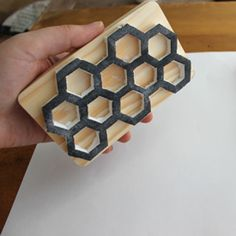 Follow this easy tutorial to learn how to make your very own honeycomb stamp using simple, inexpensive materials.