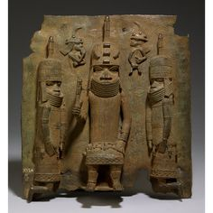 Benin plaque: the oba with Europeans  Benin, Nigeria, Edo peoples, 16th century AD