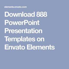 Download 888 PowerPoint Presentation Templates on Envato Elements