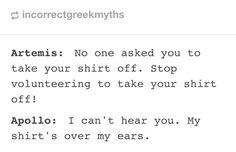 Hahaha Apollo ist the greatest