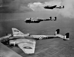 Hampdens of No 44 Squadron on a practice flight, September 1941. The foreground aircraft, AE257, was lost on an operation to Bremen on 21-22 October.