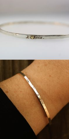 I ❤ You Bangle Bracelet -Would be nice for a significant other to buy this for you as a simple reminder each day