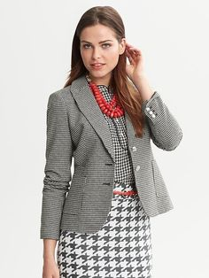 Houndstooth blazer - necessary