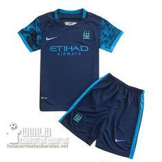 Camiseta Segunda Niños Manchester City 2015-16  €15.5