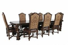 ARTF-2092/9PC - A.R.T. Furniture Valencia Table Set | Mathis Brothers Furniture