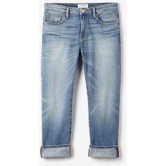 FRAME DENIM Le Grand Garçon Jean (15.600 RUB) ❤ liked on Polyvore featuring jeans, pants, bottoms, wellsley, zipper jeans, summer jeans, mid-rise jeans, mid rise straight leg jeans and straight leg jeans