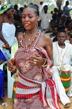 A Voodoo dancer - Benin - Traditional costumes -