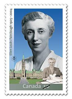 2005 Canada Post - Ellen Fairclough: The life and accomplishments of Canada's first federal woman cabinet minister, Ellen Fairclough, are celebrated in this significant commemorative stamp. Canadian Coins, I Am Canadian, Canadian History, Canadian People, Postage Stamp Collection, Cabinet Minister, Commemorative Stamps, Night At The Museum, Canada Post