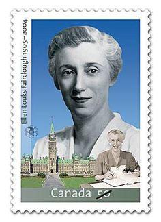 Ellen Fairclough, Canada's 1st female Cabinet Minister. // #IWD2015