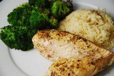 Lemon Garlic Slow Cooker Chicken Recipe – 3 Points + - LaaLoosh Entire recipe makes 6 servings Serving size is 1 chicken breast Each serving = 3 Points +