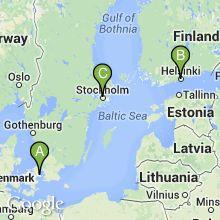 Scandinavian Vacation with Airfare - Copenhagen, Stockholm, and Helsinki 8-Day 1599$