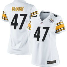 6f807c1f317 Nike Limited Mel Blount White Women s Jersey - Pittsburgh Steelers  47 NFL  Road