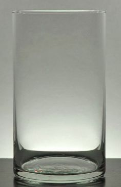 "6"" Vases Glass Cylinder (3-1/4"" width )  $2.99 ea.  / 12 for $2.29 each   - Click to enlarge"