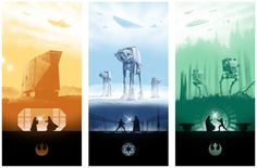 Marko Manev - Star Wars-triptych