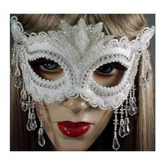 Masquerade. I have trim with hanging beads I can use along bottom/sides Chic Masquerade DIY Mask Template found on Polyvore