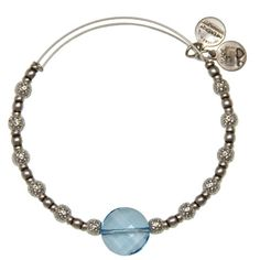Alex and Ani Full Circle Expandable Wire Bangle Sky - Russian Silver LOVE