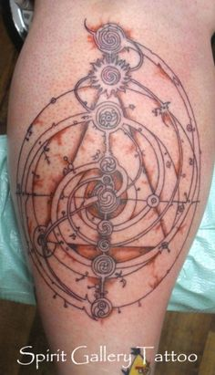 Love this Dark Crystal tattoo! The Great Conjunction (Brian Froud's concept)
