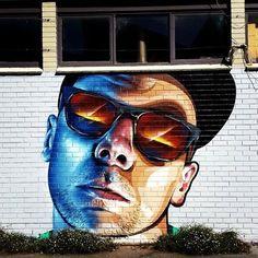 Hilltop hoods mural outside the gov. Street Art Love, Urban Street Art, Street Art Graffiti, Hilltop Hoods, Mural Art, Wall Art, Pavement Art, Social Art, Goth Art