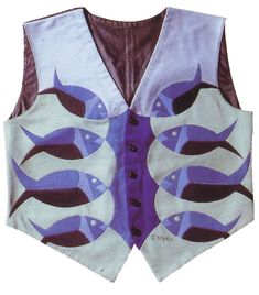 """Marinetti's """"fish"""" vest, 1923, 58 by 50 cm, Turin, private collection"""