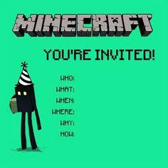 Mine craft party!