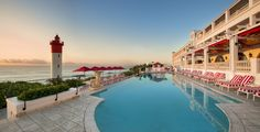 Pool area at the Oyster Box Hotel in Umhlanga. Image courtesy Oyster Box Hotel/Red Carnation Hotels