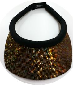 Glitzy Iridescent Brim w/Black Band & Velcro Closure Sun Visor for Women October Sun, Visors, New Set, Iridescent, Amazing Women, Closure, Band, Stuff To Buy, Sash