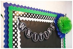 Polka Dot Numbers, Polka Dot Theme, Letters And Numbers, Polka Dots, Bulletin Board Borders, Bulletin Board Letters, Classroom Bulletin Boards, Classroom Door, Diy Classroom Decorations