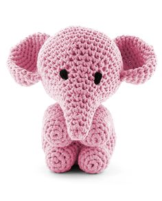 Hoooked Large Elephant Mo pink amigurumi crochet kit & pattern #crochet #gift #cute #animal #craft