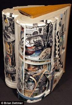 Book sculpture by Brian Dettmer by miriam