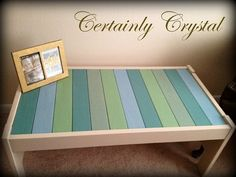 SALE   Coffee Table Multicolor blue green by CertainlyCrystal, $139.00