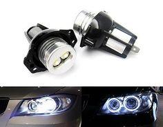 For BMW 3 Series E90 E91 2pcs Angel Eyes Halo Ring LED Marker Light Bulbs HS-UK