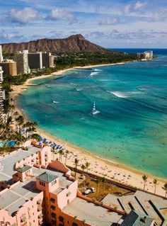 Famous Waikiki Beach in Oahu ..** Can't wait to return in November!!!