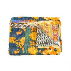 Bhavna Vintage Saari Kantha Quilt made by Shilpa Rathi .