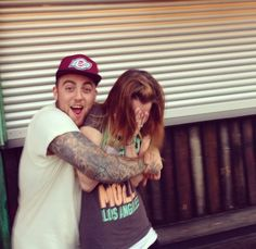 Mac Miller and a fan. I would die for a picture like this!