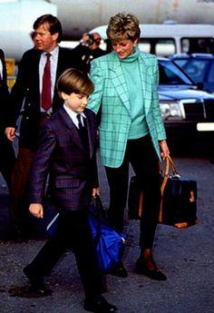 PRINCESS DIANA et  Ses Fils au SKI _ HOLIDAY, LECH, Autriche  - Mars  1993