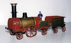 Toys of the 19th century | mid-19th Century French 'Dribbler' Train Engine & Tender. It's ...