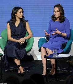 While the Duchess, who is almost eight months pregnant, played it safe in an old Séraphone...