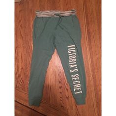 "Victoria's Secret boyfriend style sweatpants GUC only sign of wear is a small bit of cracking on two of the letters of ""secret"" see photo Victoria's Secret Pants Track Pants & Joggers"