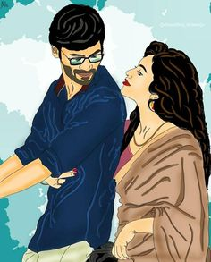 Love Cartoon Couple, Cute Cartoon Pictures, Cute Love Cartoons, Cute Couple Drawings, Cute Couple Art, Anime Couples Drawings, Bengali Art, Animated Love Images, Movie Poster Art