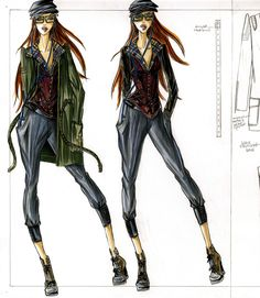 Military Inspired Sportswear - Designed and Illustrated by Kristina Keurjikian