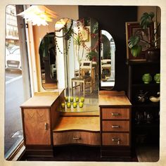 ANOUK offers an eclectic mix of vintage/retro furniture & décor.  Visit us: Instagram: @AnoukFurniture  Facebook: AnoukFurnitureDecor   October 2015 Cape Town, SA. Cape Town, Decoration, Oversized Mirror, Art Deco, Photo And Video, Facebook, Instagram, Table, Furniture