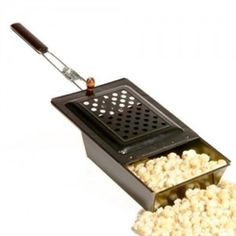 Made since the 1800's. Pop corn over a fire outside or on a gas stove. Fun family activity. Made in USA - Ohio OHSAYUSA.com $39.95