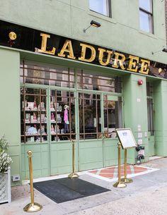 Laduree Tea Shop & Patisserie in Soho, NYC. Wonderful Macarons!