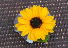Mini Sunflower Wrist Corsage.