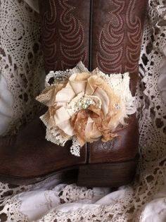 Tea Stained Linen & Lace/ Shabby Girls by DolledandDazzled on Etsy