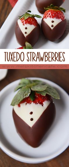 These adorable tuxedo-versions of classic chocolate covered strawberries are fun and easy to make.