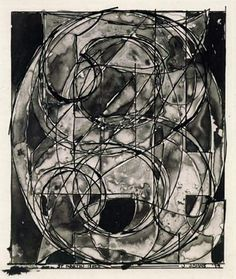 Jasper Johns '0 through 9' 1979  my inspiration for my Drawing 2 final all of those years ago.